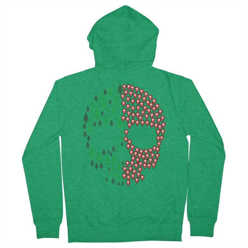 Deforestation Women's Zip-Up Hoody by Daniel Stevens's Artist Shop
