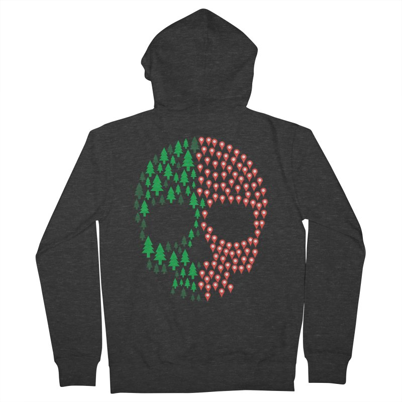 Deforestation Men's Zip-Up Hoody by danielstevens's Artist Shop