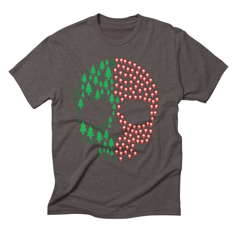 Deforestation Men's Triblend T-shirt by danielstevens's Artist Shop