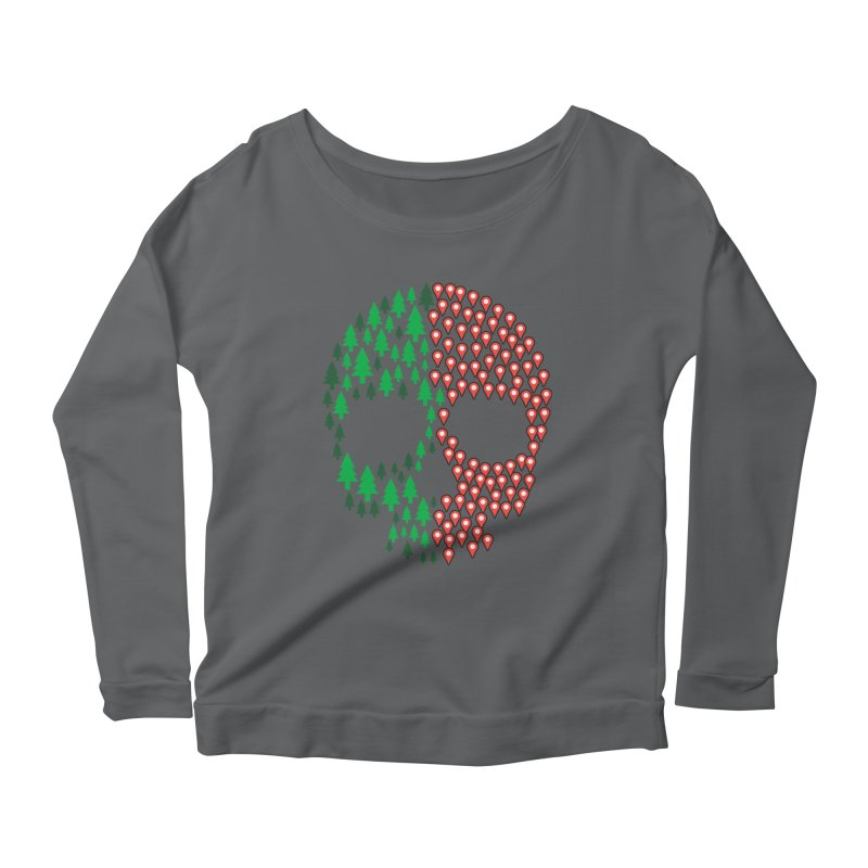 Deforestation Women's Longsleeve Scoopneck  by danielstevens's Artist Shop
