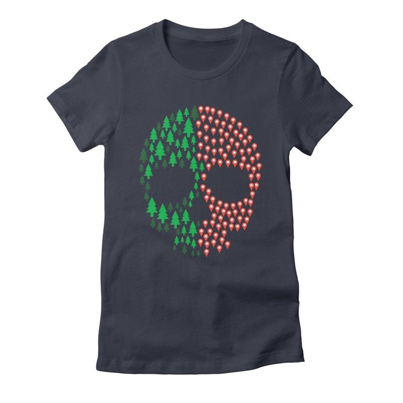 Deforestation Women's Fitted T-Shirt by danielstevens's Artist Shop
