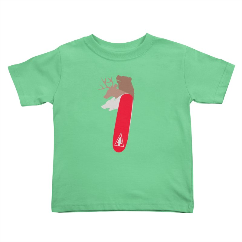 Natures Survival Knife Kids Toddler T-Shirt by danielstevens's Artist Shop