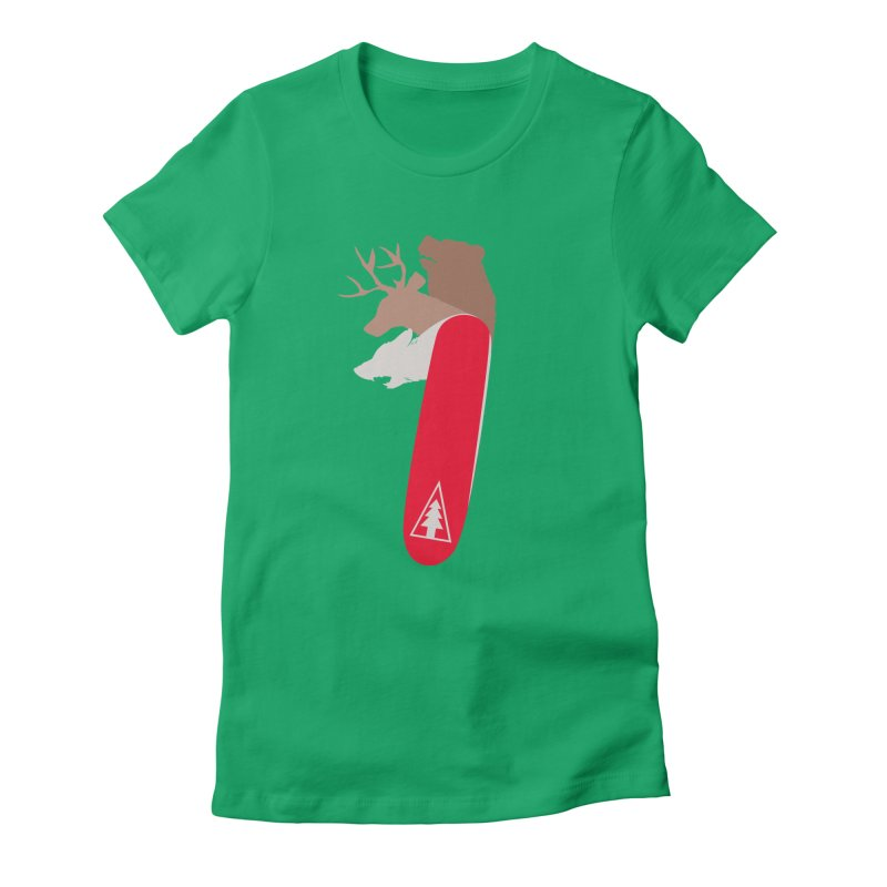 Natures Survival Knife Women's Fitted T-Shirt by danielstevens's Artist Shop