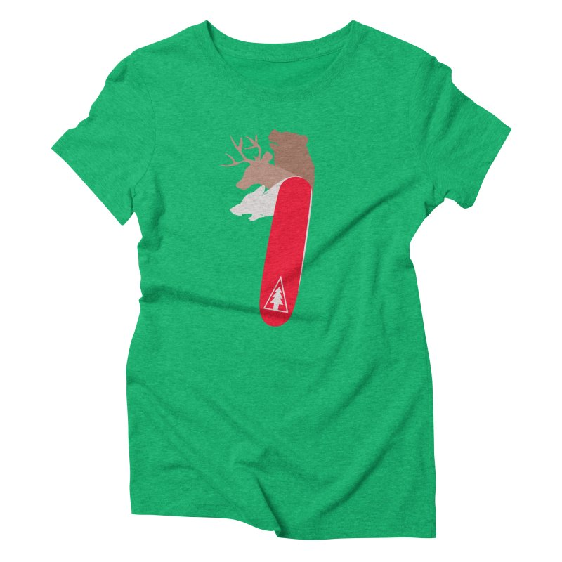 Natures Survival Knife Women's Triblend T-Shirt by danielstevens's Artist Shop