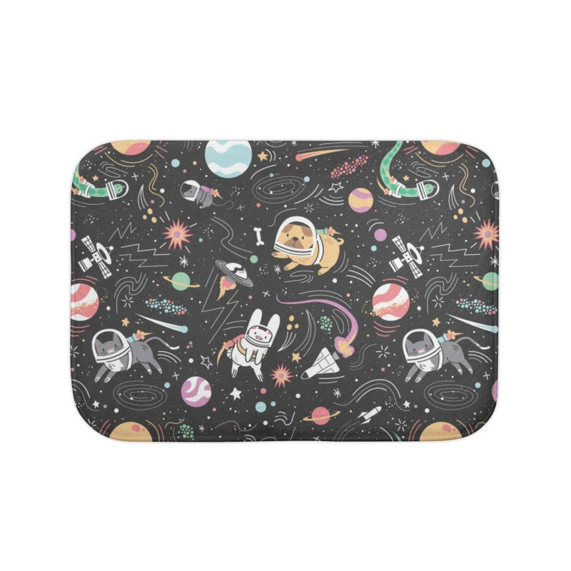 Space Pets Home Bath Mat by danielstevens's Artist Shop
