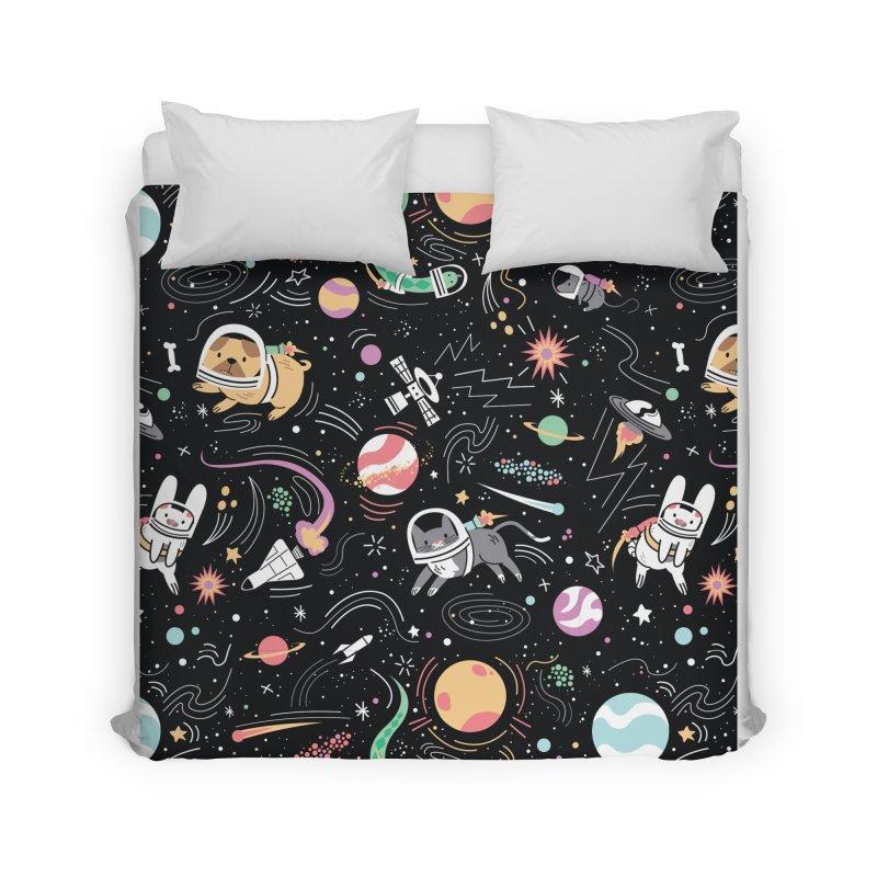 Space Pets Home Duvet by Daniel Stevens's Artist Shop