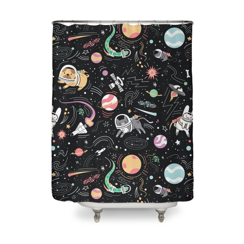 Space Pets Home Shower Curtain by danielstevens's Artist Shop
