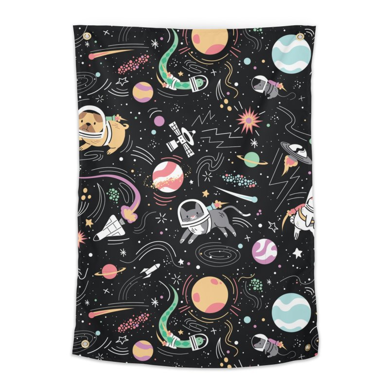Space Pets Home Tapestry by danielstevens's Artist Shop