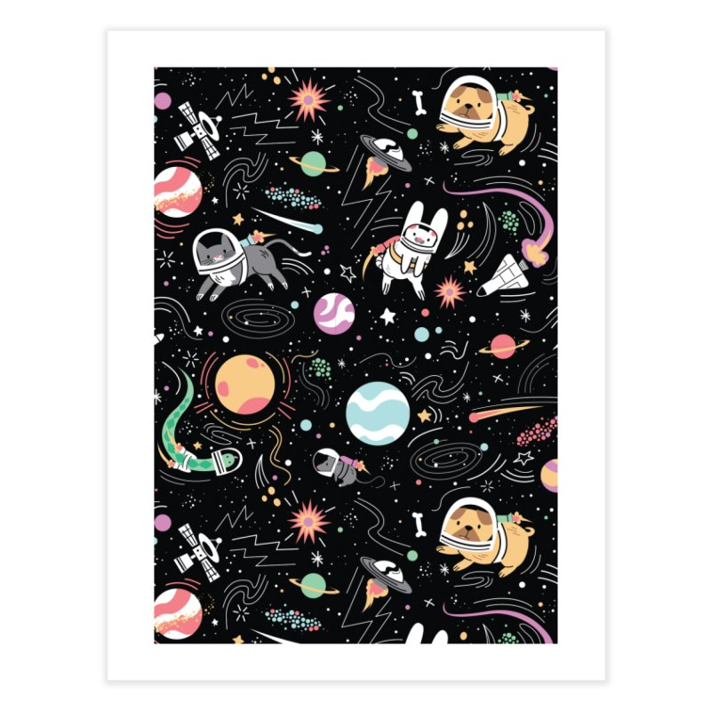 Space Pets Home Fine Art Print by Daniel Stevens's Artist Shop