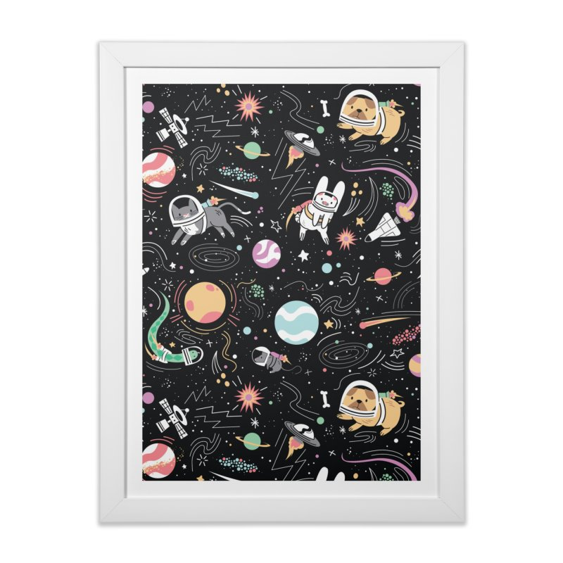 Space Pets Home Framed Fine Art Print by danielstevens's Artist Shop