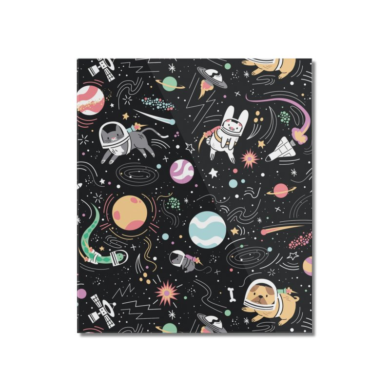 Space Pets Home Mounted Acrylic Print by danielstevens's Artist Shop