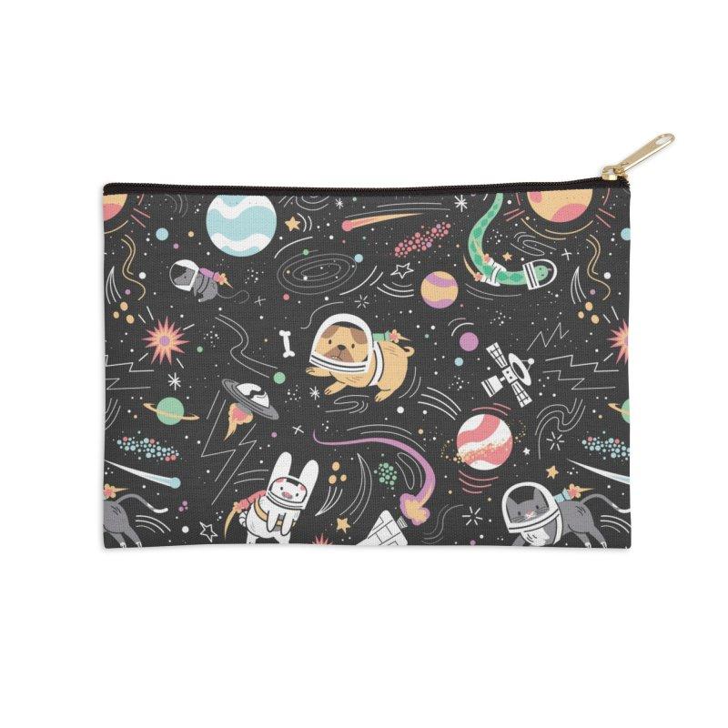 Space Pets Accessories Zip Pouch by danielstevens's Artist Shop