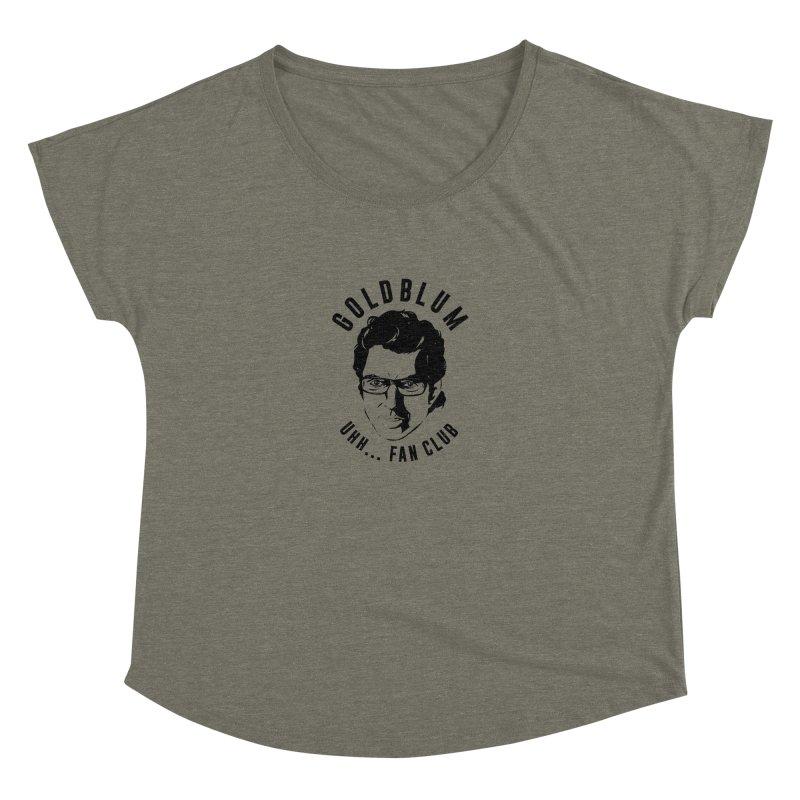 Goldblum fan club Women's Scoop Neck by Daniel Stevens's Artist Shop