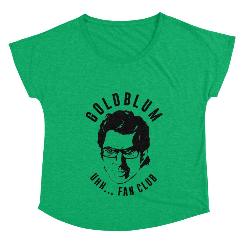 Goldblum fan club Women's Scoop Neck by Daniel Stevens's Artist Shop