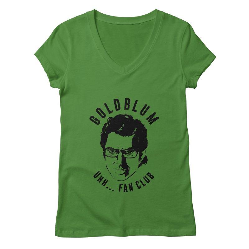 Goldblum fan club Women's V-Neck by danielstevens's Artist Shop