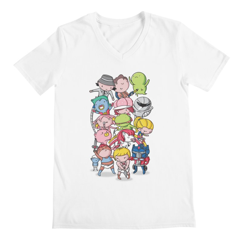 80's Babies Men's V-Neck by Daniel Stevens's Artist Shop