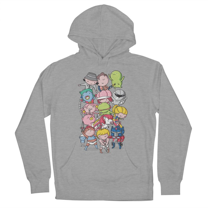 80's Babies Women's French Terry Pullover Hoody by Daniel Stevens's Artist Shop