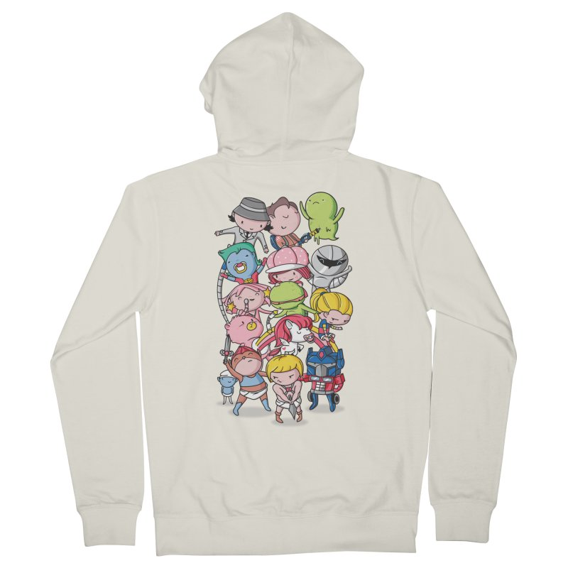 80's Babies Women's Zip-Up Hoody by Daniel Stevens's Artist Shop