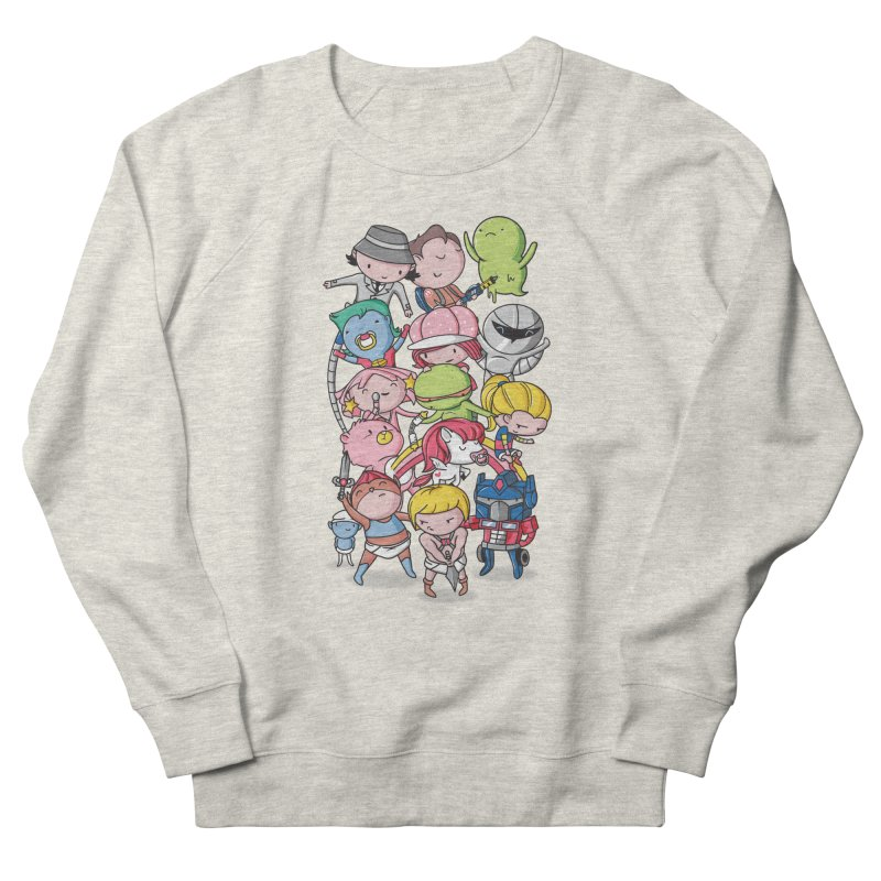 80's Babies Women's French Terry Sweatshirt by Daniel Stevens's Artist Shop