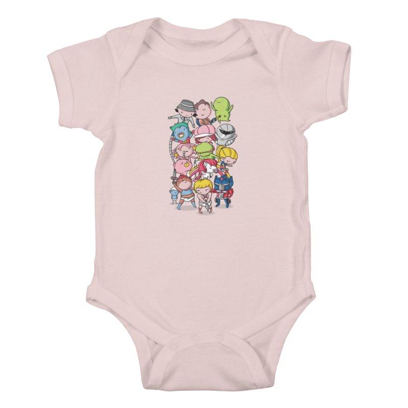 80's Babies Kids Baby Bodysuit by Daniel Stevens's Artist Shop