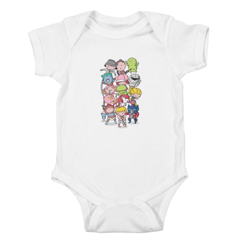80's Babies Kids Baby Bodysuit by danielstevens's Artist Shop