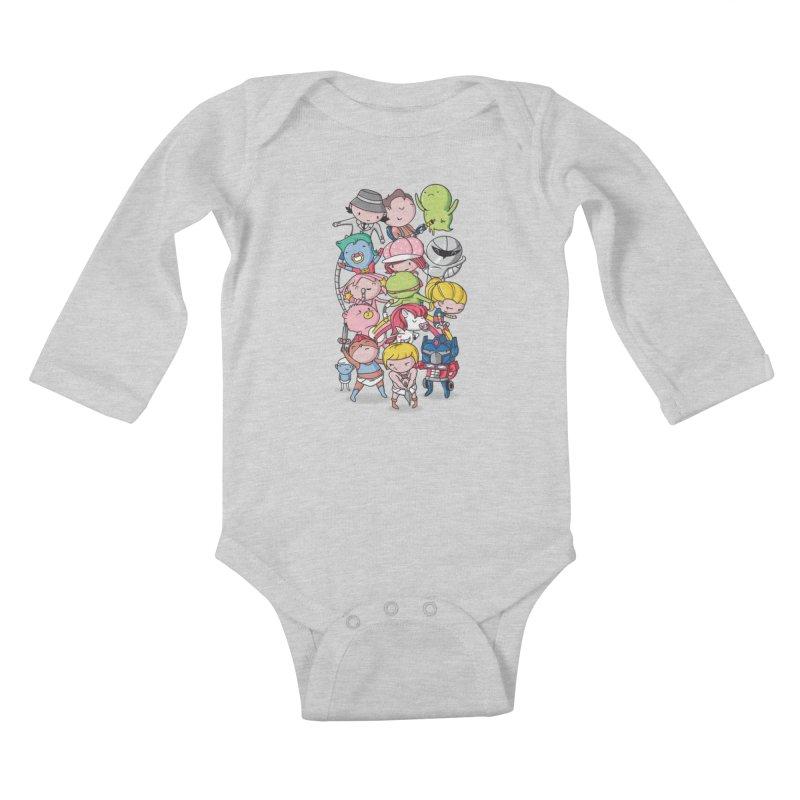 80's Babies Kids Baby Longsleeve Bodysuit by danielstevens's Artist Shop