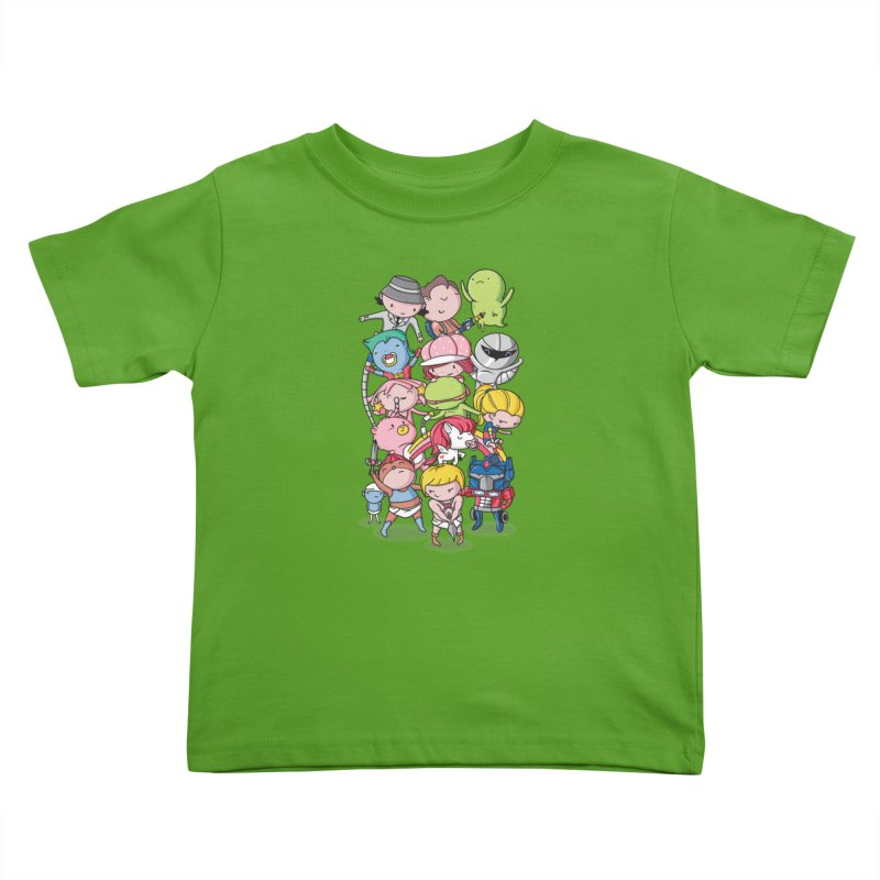 80's Babies Kids Toddler T-Shirt by Daniel Stevens's Artist Shop