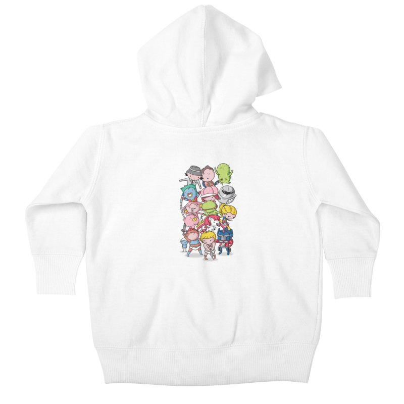 80's Babies Kids Baby Zip-Up Hoody by Daniel Stevens's Artist Shop