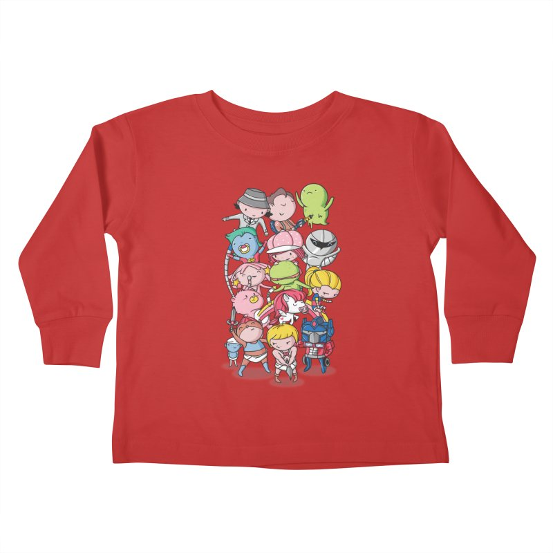 80's Babies Kids Toddler Longsleeve T-Shirt by Daniel Stevens's Artist Shop