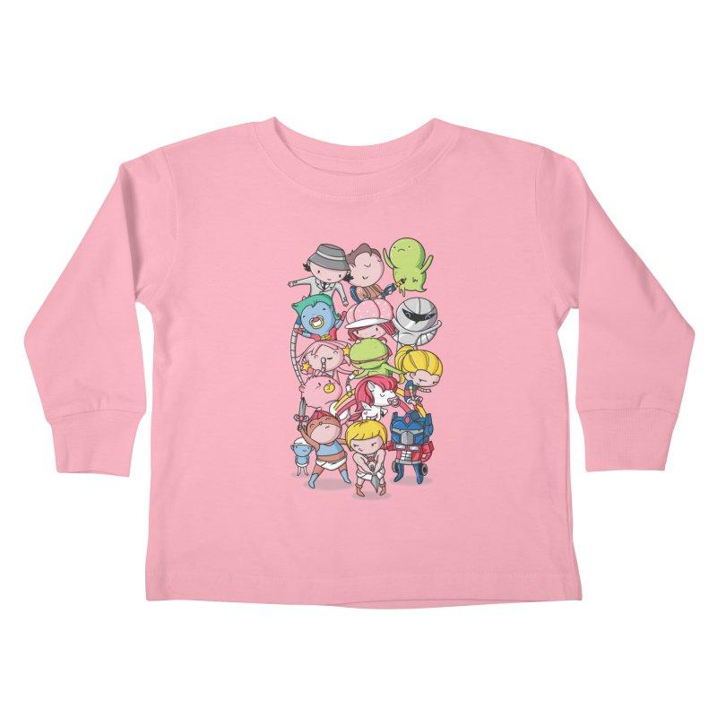 80's Babies Kids Toddler Longsleeve T-Shirt by danielstevens's Artist Shop