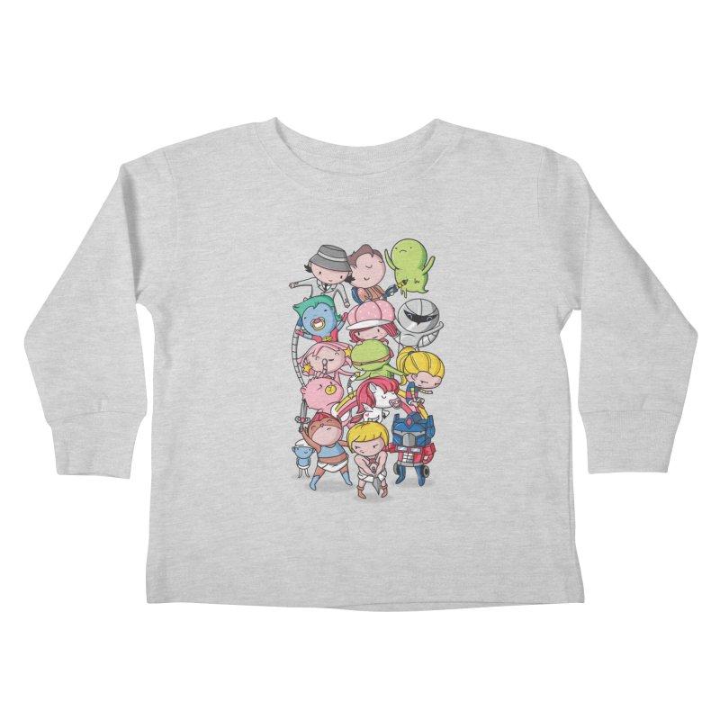 80's Babies Kids Toddler Longsleeve T-Shirt by Daniel Stevens's Artist Shop