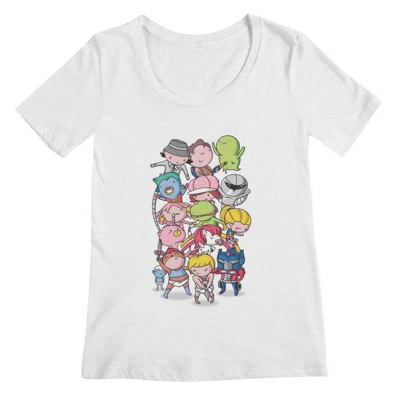 80's Babies Women's Regular Scoop Neck by Daniel Stevens's Artist Shop