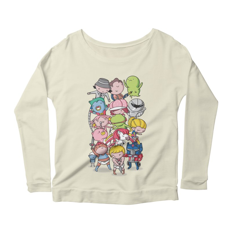 80's Babies Women's Scoop Neck Longsleeve T-Shirt by danielstevens's Artist Shop