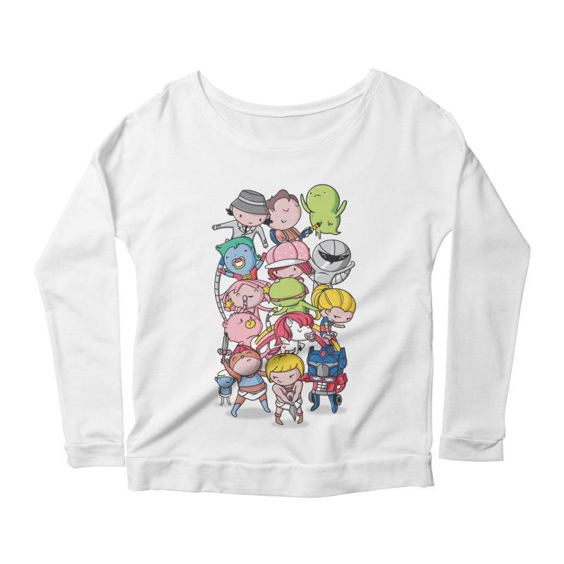 80's Babies Women's Scoop Neck Longsleeve T-Shirt by danielstevens's Artist Shop