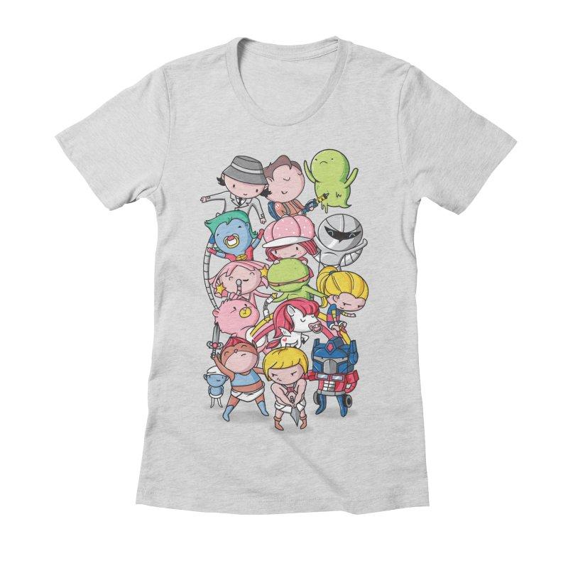 80's Babies Women's Fitted T-Shirt by danielstevens's Artist Shop