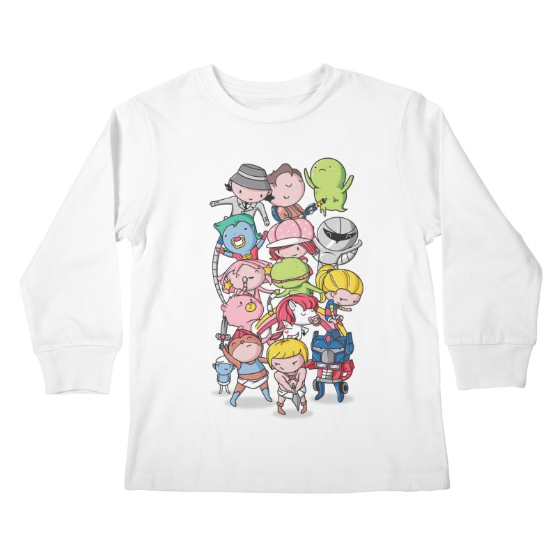 80's Babies Kids Longsleeve T-Shirt by danielstevens's Artist Shop