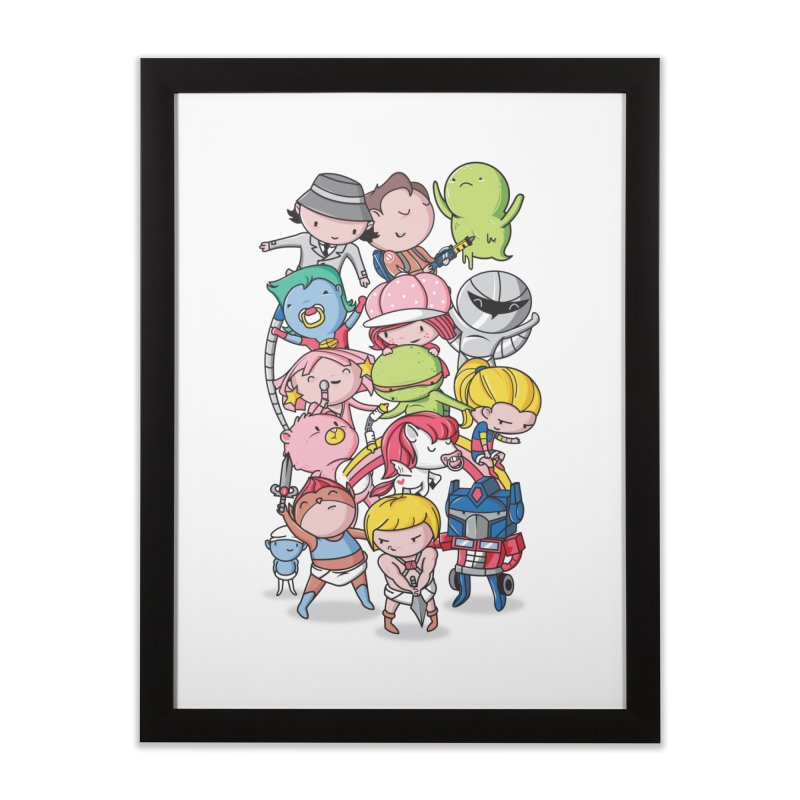 80's Babies Home Framed Fine Art Print by danielstevens's Artist Shop
