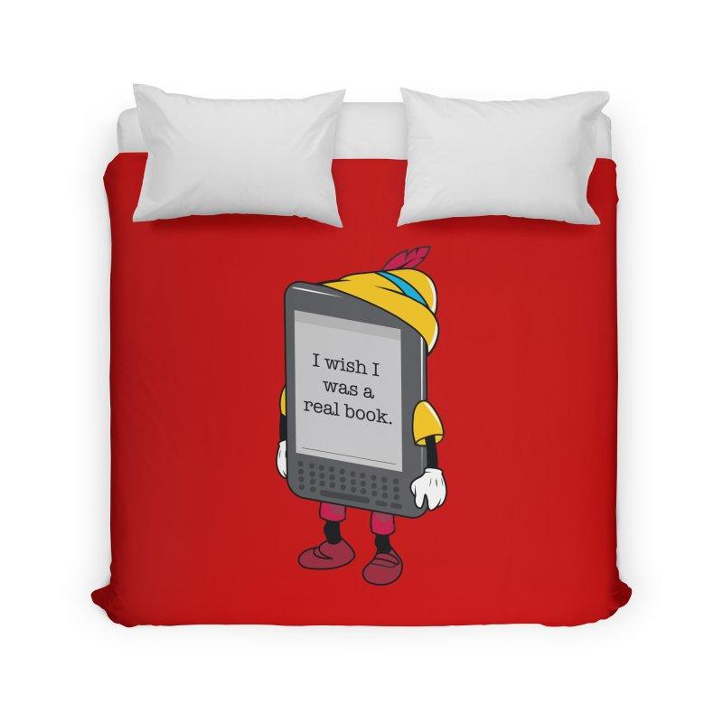 Wish upon an e-book Home Duvet by danielstevens's Artist Shop