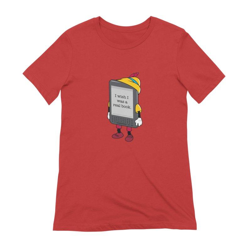 Wish upon an e-book Women's Extra Soft T-Shirt by danielstevens's Artist Shop