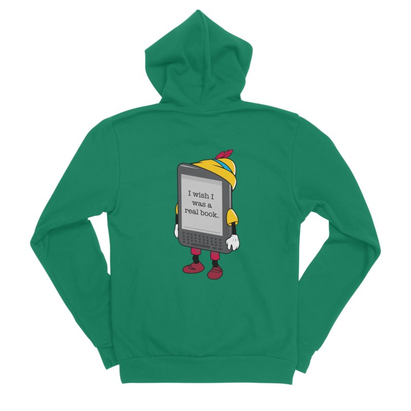 Wish upon an e-book Women's Zip-Up Hoody by Daniel Stevens's Artist Shop