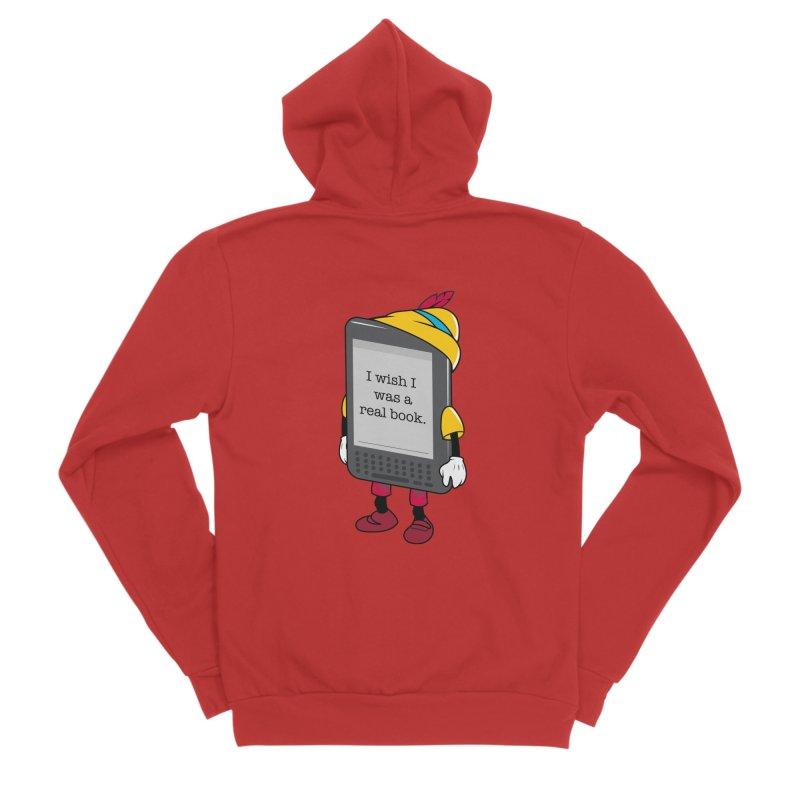 Wish upon an e-book Men's Sponge Fleece Zip-Up Hoody by danielstevens's Artist Shop