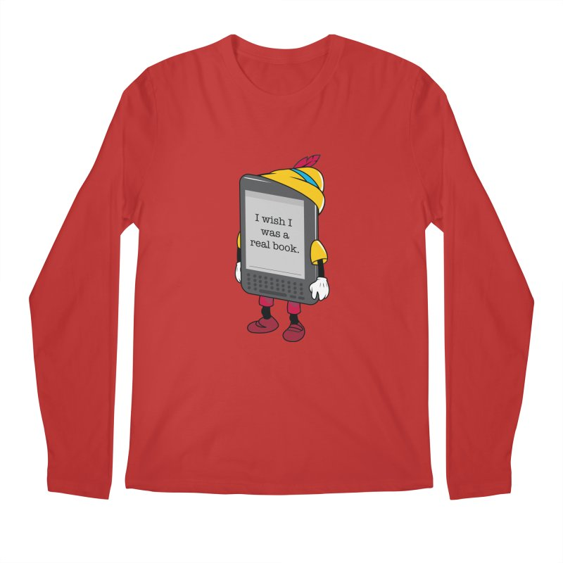Wish upon an e-book Men's Longsleeve T-Shirt by Daniel Stevens's Artist Shop
