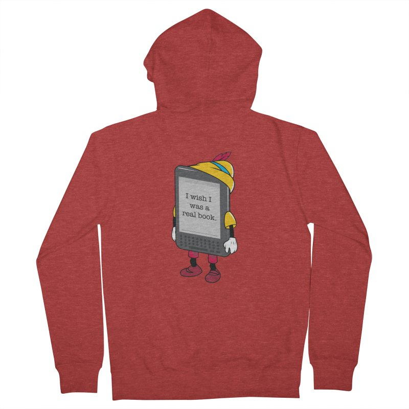Wish upon an e-book Women's French Terry Zip-Up Hoody by Daniel Stevens's Artist Shop
