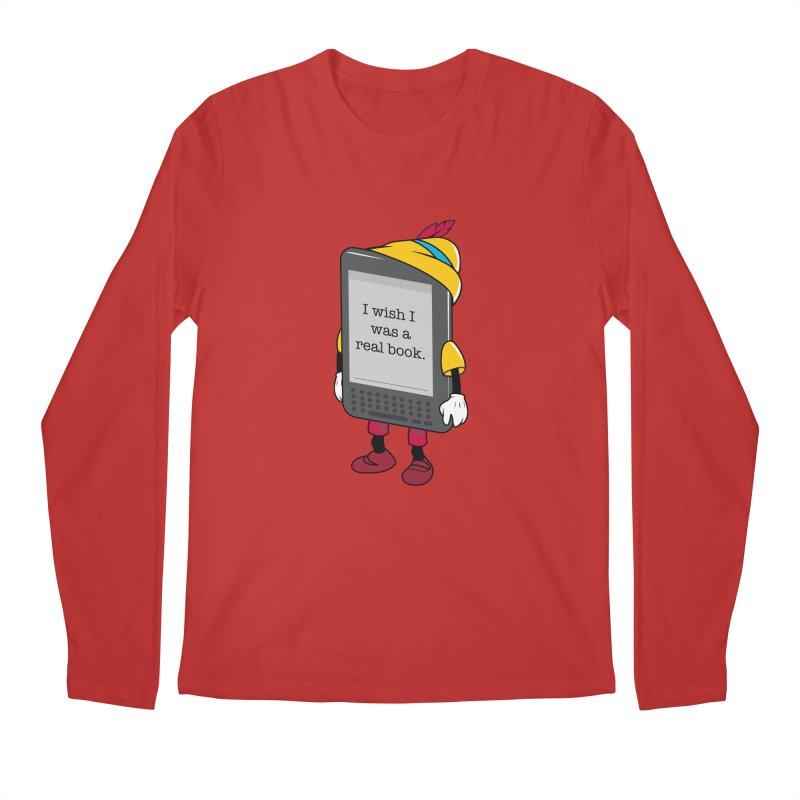 Wish upon an e-book Men's Regular Longsleeve T-Shirt by Daniel Stevens's Artist Shop