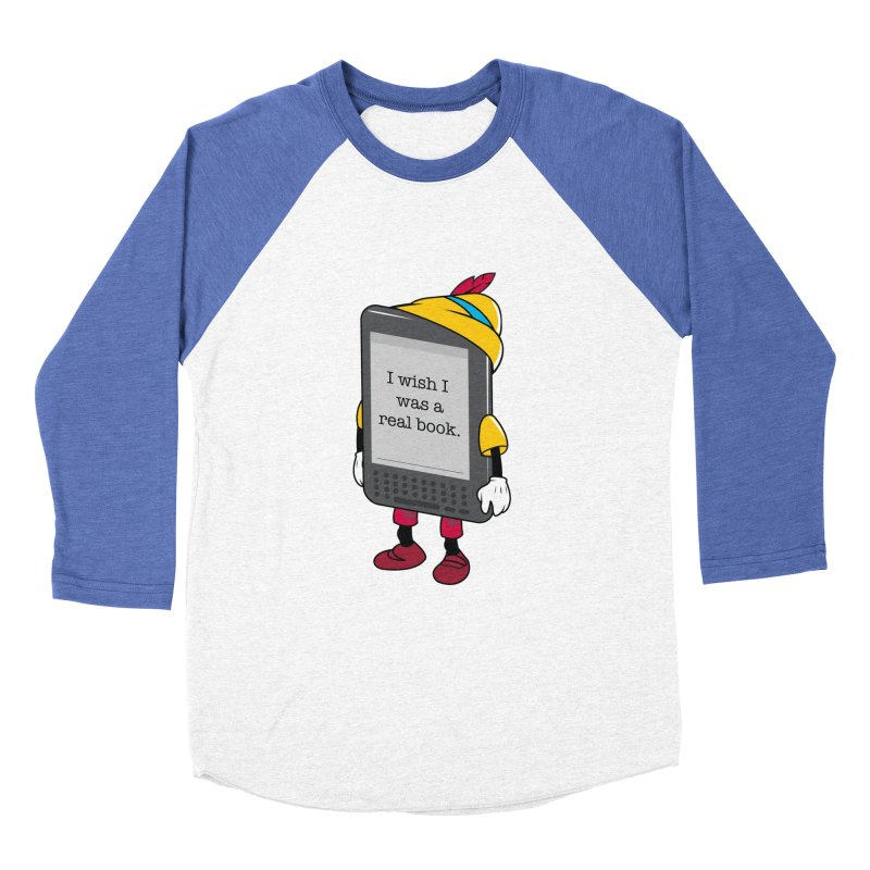 Wish upon an e-book Women's Baseball Triblend Longsleeve T-Shirt by danielstevens's Artist Shop