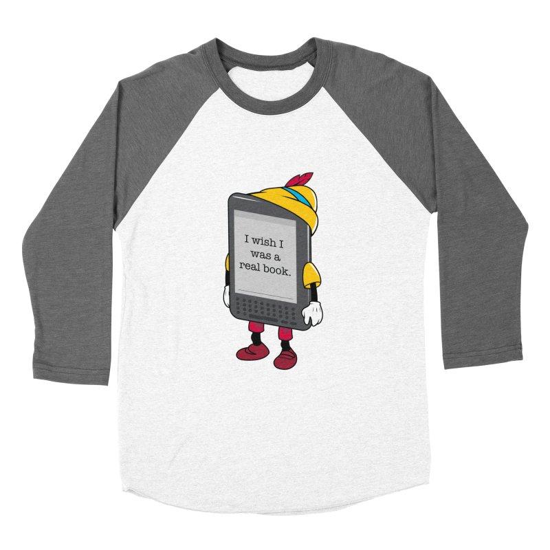 Wish upon an e-book Women's Baseball Triblend Longsleeve T-Shirt by Daniel Stevens's Artist Shop