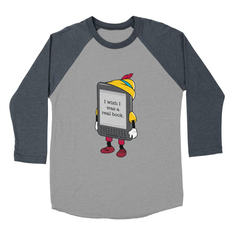 Wish upon an e-book Women's Baseball Triblend Longsleeve T-Shirt by Daniel Stevens's Artist Shop