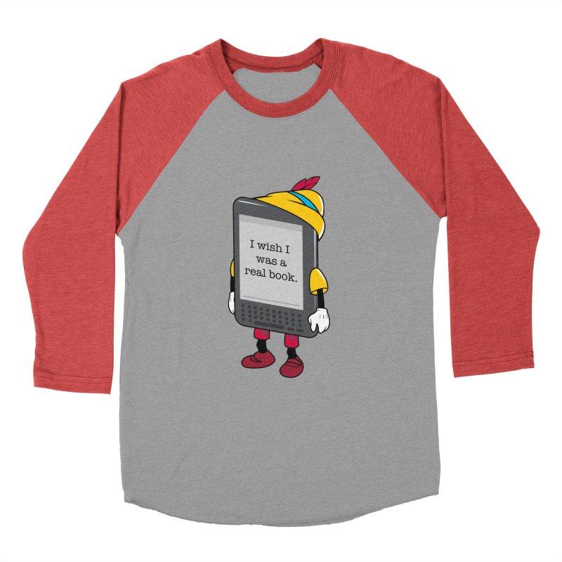 Wish upon an e-book Men's Baseball Triblend Longsleeve T-Shirt by Daniel Stevens's Artist Shop