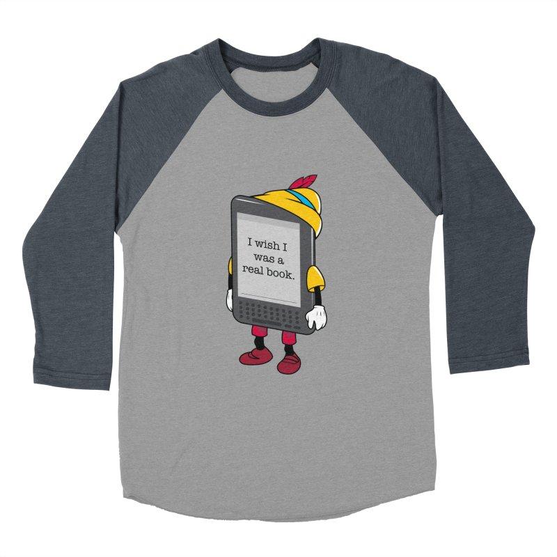 Wish upon an e-book Men's Baseball Triblend Longsleeve T-Shirt by danielstevens's Artist Shop