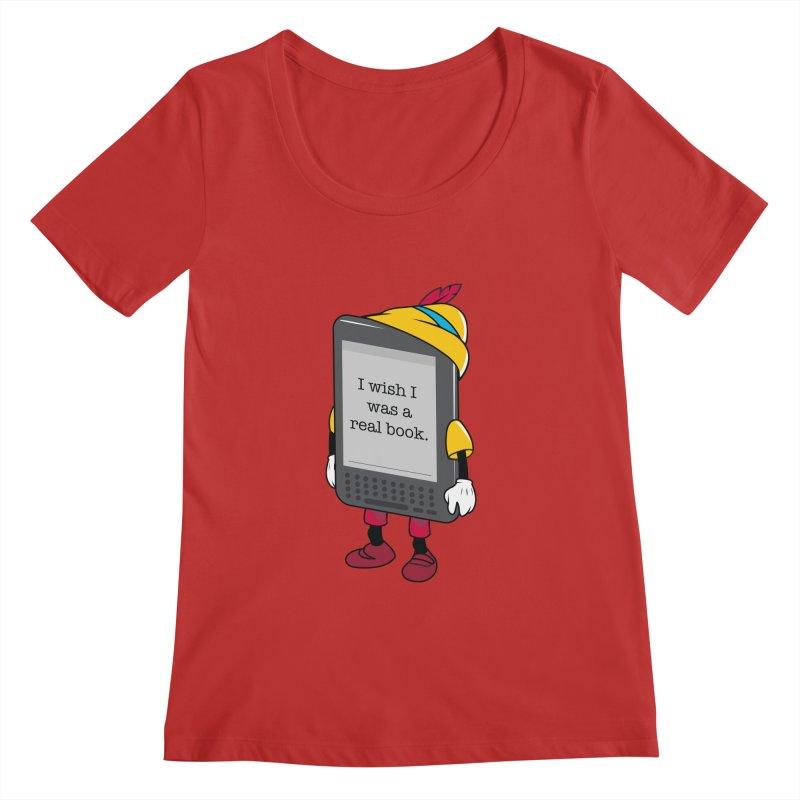 Wish upon an e-book Women's Regular Scoop Neck by Daniel Stevens's Artist Shop